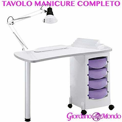 Mesa de manicura Profesional Completo de accesorios