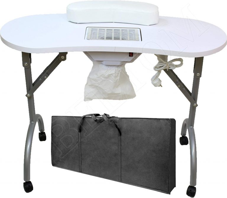 Beltom Mesa para manicura Plegable con Aspirador