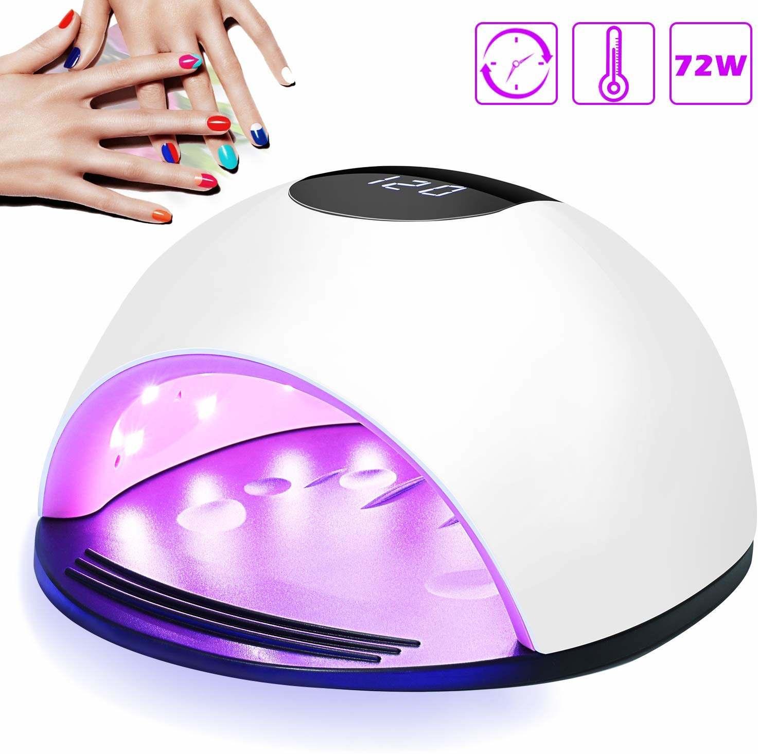 Lámpara LED UV Uñas, Nivlan 72W