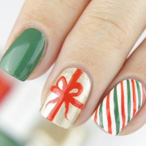 Uñas de Regalo de Navidad