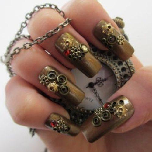 Increíbles uñas de steampunk