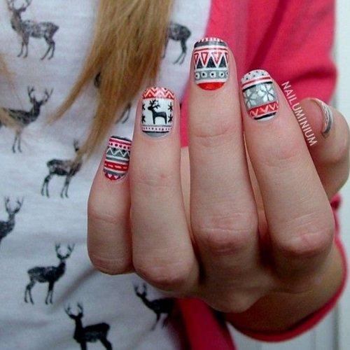 Uñas de Patrón Azteca