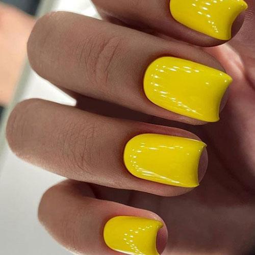 Cortas amarillas cuadradas gel