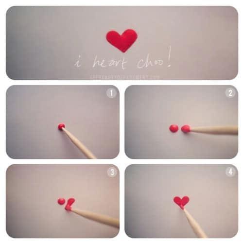 Uñas con corazon